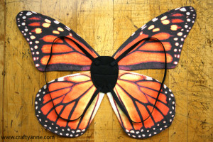 orange monarch wings