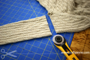diy sweater leg warmers