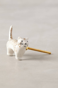 anthropologie cat door knob