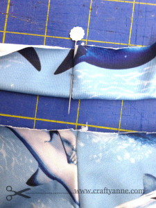 Waistband folded in half. About to pin to skirt. Match the side seams!