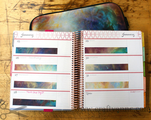 printable galaxy washi tape
