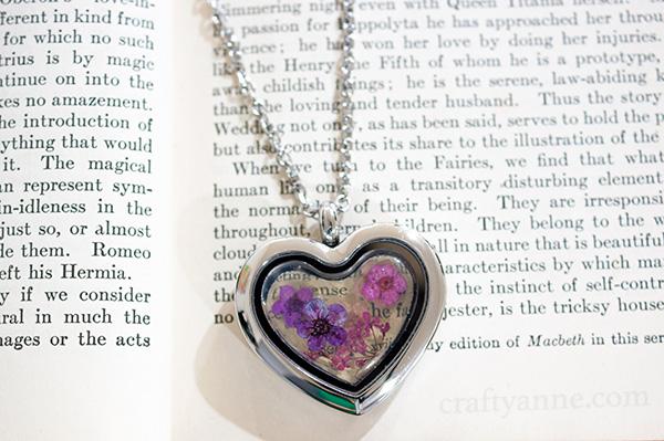 pressed flower jewelry tutorial