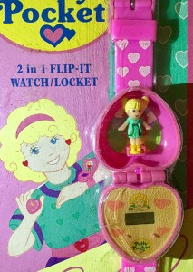 vintage polly pocket watch pink heart locket