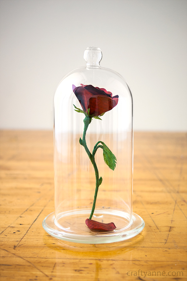 beauty and the beast rose centerpiece tutorial